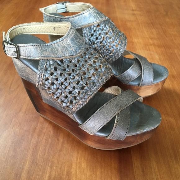 320395902edc Bed Stu Shoes - Bed Stu Distressed Leather Petra Wedge Sandal NWOB